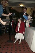 Natasha daughter of Katie Derham, Cirque de Soleil Premiere of Alegr'a. Royal Albert Hall. London. 5 January 2006.  -DO NOT ARCHIVE-© Copyright Photograph by Dafydd Jones. 248 Clapham Rd. London SW9 0PZ. Tel 0207 820 0771. www.dafjones.com.