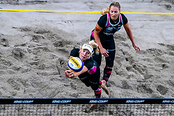 Michala Kvapilova CZE in action during the second day of the beach volleyball event King of the Court at Jaarbeursplein on September 10, 2020 in Utrecht.