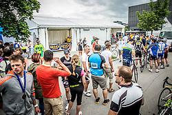 Rider in finish area waiting for food at 35th Marathon Franja BTC City 2016, on June 11, 2016 in BTC, Ljubljana, Slovenia. Photo by Vid Ponikvar / Sportida
