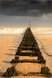 July 21, 2019 - Jetty On Beach, Yorkshire, England (Credit Image: © John Short/Design Pics via ZUMA Wire)