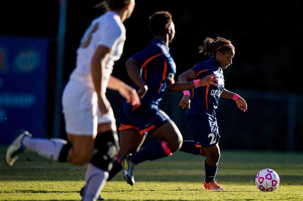 Oct 23, 2013; Morrow, GA, USA; Clayton State women's soccer player Denisha Paskell against Georgia Southwestern at CSU. CSU won 4-0. Photo by Kevin Liles/kevindliles.com