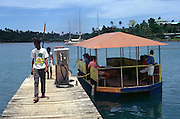 Tourist boat at a jetty Port Antonio Jamaica
