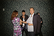 Karla Otto, Hedi Slimane and Mario Testino, EXHIBITION OF WORK BY THOMAS DEMAND ( SUPPORTED BY WALLPAPER) AT THE SERPENTINE GALLERY AND AFTERWARDS AT THE Rochelle Canteen, Rochelle School<br />