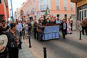 Fiesta procession Nuestra Senora de la Candelaria, Gran Tarajal, Fuerteventura, Canary Islands, Spain
