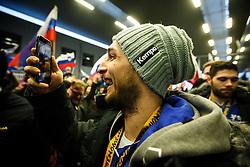 Gasper Marguc during Reception of Slovenian National Handball team bronze medalist from Handball World Cup in France at Slovenian Croatian border on 29th January 2017,  Obrezje, Slovenia. Photo by Grega Valancic / Sportida