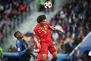 Axel Witsel of Belgium and Paul Pogba of France during the 2018 FIFA World Cup Russia, Semi Final football match between France and Belgium on July 10, 2018 at Saint Petersburg Stadium in Saint Petersburg, Russia - Photo Thiago Bernardes / FramePhoto / ProSportsImages / DPPI