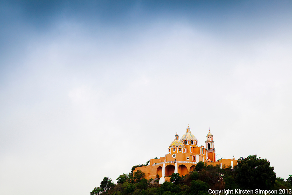 The Iglesia de Nuestra Señora de los Remedios Church ontop of Tlachihualtepetl in Cholula