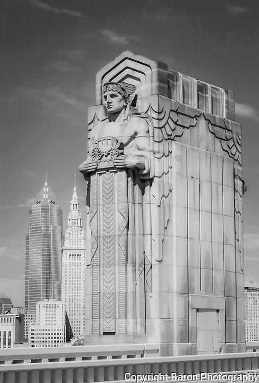 Cleveland skyline from the Lorain Carnegie Bridge