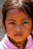 Nepalese girl, Bhaktapur, Kathmandu Valley, Nepal., Bhaktapur, Kathmandu Valley, Nepal.