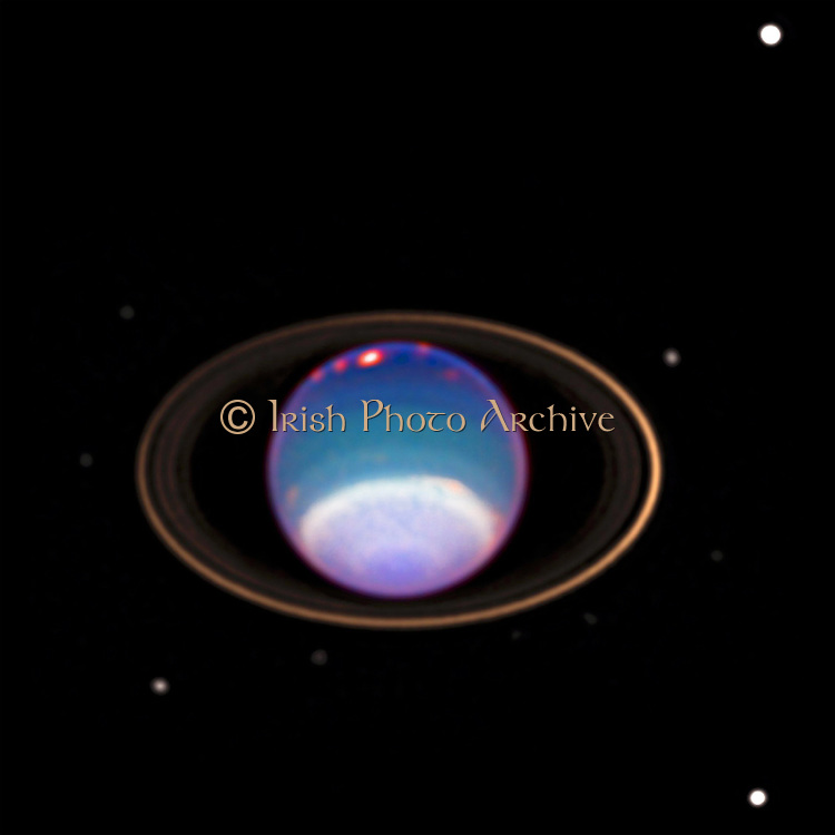 Image of  Uranus obtained by the Hubble Telescope. The first planet discovered in modern times, it was first observed by William Herschel in 1781.   Credit NASA. Science Astronomy Planetary Space