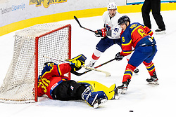 Zoltan Toke of Romania, Anthony Rech of France and Huba Bors of Romania during match at Beat Covid 19 IIH Tournament 2021 between national teams of Romania and France in Hala Tivoli on 15th of May, 2021, Ljubljana, Slovenia . Photo By Morgan Kristan / Sportida