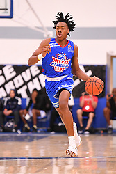 June 3, 2018 - Norwalk, CA, U.S. - NORWALK, CA - JUNE 03: Scottie Barnes from NSU University School dribbles up the court during the Pangos All-American Camp on June 3, 2018 at Cerritos College in Norwalk, CA. (Photo by Brian Rothmuller/Icon Sportswire) (Credit Image: © Brian Rothmuller/Icon SMI via ZUMA Press)