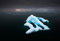 Arctic landscape on the eastern side of Spitsbergen, Svalbard