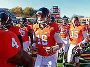 CHARLOTTESVILLE, VA- NOVEMBER 12:  Quarterback Michael Rocco #16 of the Virginia Cavaliers runs off the field during the game on November 12, 2011 at Scott Stadium in Charlottesville, Virginia. Virginia defeated Duke 31-21. (Photo by Andrew Shurtleff/Getty Images) *** Local Caption *** Michael Rocco