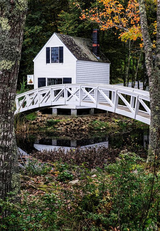 Footbridge, Somesville, Maine, USA