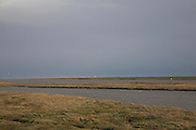 Salt marsh and creeks, Shingle Street, Suffolk, England