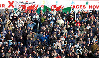 Photo: Alan Crowhurst.<br />Swindon Town v Swansea City. Coca Cola League 1.<br />31/12/2005. <br />A good showing by the Swansea supporters on new years eve.