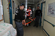 Hospital evacuation drill by the Haifa fire department
