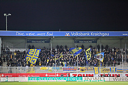 11.12.2015, Hardtwald, Sandhausen, GER, 2. FBL, SV 1916 Sandhausen vs Eintracht Braunschweig, 18. Runde, im Bild Fans aus Braunschweig // during the 2nd German Bundesliga 18th round match between SV 1916 Sandhausen and Eintracht Braunschweig at the Hardtwald in Sandhausen, Germany on 2015/12/11. EXPA Pictures © 2015, PhotoCredit: EXPA/ Eibner-Pressefoto/ Bermel<br /> <br /> *****ATTENTION - OUT of GER*****