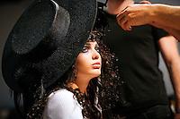 Iulia Larinna Backstage at Christian Lacroix Couture Fall 2007