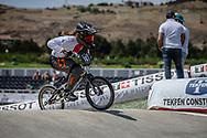 Women Junior #167 (DONZALLAZ Eloise) SUI at the 2018 UCI BMX World Championships in Baku, Azerbaijan.