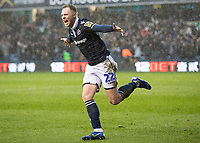 Football - 2018 / 2019 Emirates FA Cup - Sixth Round, Quarter Final : Millwall vs. Brighton<br /> <br /> Aiden O'Brien (Millwall FC) turns away after scoring on his 200th appearance for Millwall at The Den.<br /> <br /> COLORSPORT/DANIEL BEARHAM