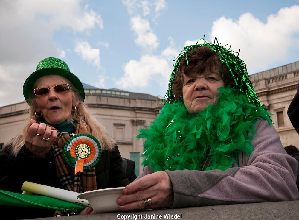 St Patricks day celebrations in Trafalgar Square 2010