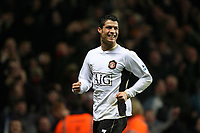 Photo: Rich Eaton.<br /> <br /> Aston Villa v Manchester United. The Barclays Premiership. 23/12/2006. Cristiano Ronaldo celebrates scoring his 2nd goal to make the score 3-0