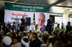 JOHANNESBURG, March 29, 2017  Secretary General of African National Congress (ANC) Gwede Mantashe addresses the funeral of Ahmed Kathrada at Westpark Cemetery in Johannesburg, South Africa, on March 29, 2017. South African anti-apartheid stalwart Ahmed Kathrada died in the early hours of Tuesday morning at the age of 87.  sxk) (Credit Image: © Zhai Jianlan/Xinhua via ZUMA Wire)