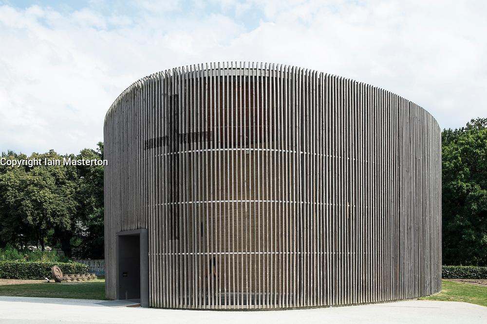 Chapel of Reconciliation  in former death strip of Berlin Wall on Bernauer Strasse in Berlin Germany