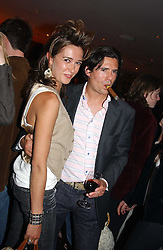 SOPHIA ROGGE and EDWARD TAYLOR at a night of Cuban Cocktails and Cabaret hosted by Edward Taylor and Charles Beamish at Floridita, 100 Wardour Street, London W1 on 14th April 2005.<br /><br />NON EXCLUSIVE - WORLD RIGHTS
