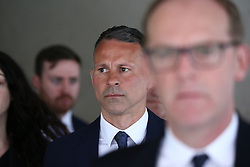 © Licensed to London News Pictures. 28/05/2021. Manchester, UK. Ryan Giggs arrives at Manchester Crown Court on Friday morning. The former Manchester United star pleaded not guilty last month to charges of causing actual bodily harm, common assault and coercive and controlling behaviour. Photo credit: Adam Vaughan/LNP