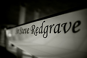 Henley. Berks, United Kingdom. <br /> <br /> Royal Regatta Boat Tent. Racked Eight,  [Sir Steve REDGRAVE], 2017 Henley' Women's Regatta. Rowing on, Henley Reach. River Thames. <br /> <br /> <br /> Sunday  18/06/2017<br /> <br /> <br /> [Mandatory Credit Peter SPURRIER/Intersport Images]
