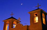 Moonrise over San Francisco de Assisi church, Ranchos de Taos, New Mexico