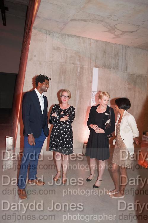 MARK MILLER; FIONA KINGSMAN; EMILY PRINGLE; SILAJA SUMTHARALINGAM; SAM JENNINGS, The Tanks at Tate Modern, opening. Tate Modern, Bankside, London, 16 July 2012