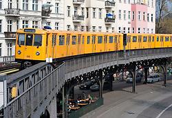 Elevated section of Berlin S Bahn railway in Kreuzberg Berlin 2009