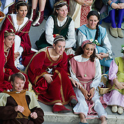 VENICE, ITALY - JUNE 12:  Members of the Historical Pageant rest during the Regatta of the Ancient Maritime Republics on June 12, 2011 in Venice, Italy. The idea of the Regatta of the Ancient Maritime Republics was realized in 1955 and the first edition took place in Genova.