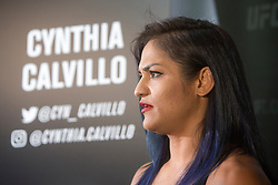 Cynthia Calvillo, No.14 strawweight contender, UFC Fight Night : Ultimate Media Day at the  Crowne Plaza Glasgow. This is for the forthcoming UFC Fight Night Glasgow at the SSE Hydro on 16th July 2017.