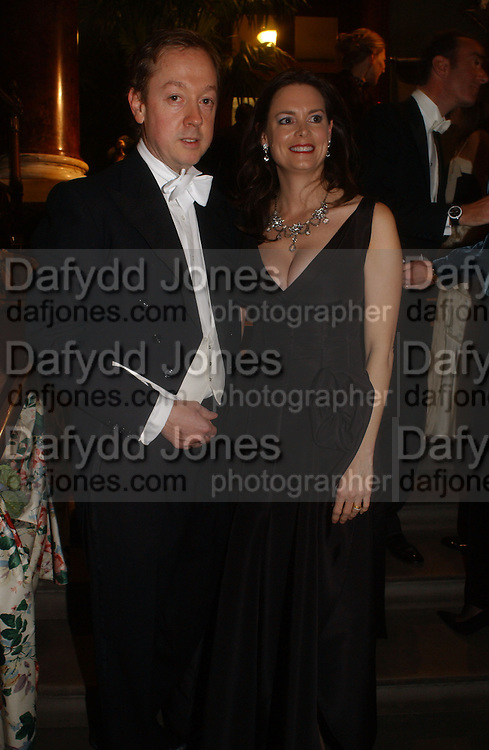 Geordie and Katharine Greig , Belle Epoche gala fundraising dinner. National Gallery. 16 March 2006. ONE TIME USE ONLY - DO NOT ARCHIVE  © Copyright Photograph by Dafydd Jones 66 Stockwell Park Rd. London SW9 0DA Tel 020 7733 0108 www.dafjones.com
