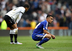 Nico Yennaris of Brentford cuts a frustrated figure at full time - Mandatory byline: Robbie Stephenson/JMP - 07966 386802 - 03/10/2015 - FOOTBALL - iPro Stadium - Derby, England - Derby County v Brentford - Sky Bet Championship
