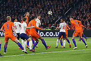 England midfielder Jordan Henderson heads at goal during the Friendly match between Netherlands and England at the Amsterdam Arena, Amsterdam, Netherlands on 23 March 2018. Picture by Phil Duncan.