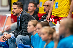 Ass. trainer/coach Renzo Verschuren in action in the supercup semifinal between Draisma Dynamo – Active Living Orion on October, 03 2020 in Van der Knaaphal, Ede
