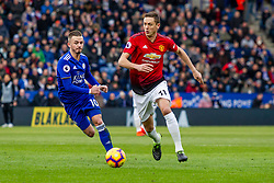 February 3, 2019 - Leicester, England, United Kingdom - Nemanja Matic of Manchester United takes on James Maddison of Leicester City during the Premier League match between Leicester City and Manchester United at the King Power Stadium, Leicester on Sunday 3rd February 2019. (Credit Image: © Mi News/NurPhoto via ZUMA Press)