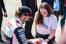 June 11, 2018 - Le Mans, FRANCE - 8 TOYOTA GAZOO RACING (JPN) TOYOTA TS050 HYBRID LMP1 FERNANDO ALONSO  (Credit Image: © Panoramic via ZUMA Press)
