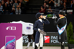GRAVES Laura (USA), WERTH Isabell (GER)<br /> Paris - FEI World Cup Finals 2018<br /> FEI World Cup Dressage Freestyle/Kür<br /> www.sportfotos-lafrentz.de/Stefan Lafrentz<br /> 14. April 2018