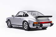 Image of a silver 1976 Porsche 911 Euro Carrera in the studio, Bellevue, Washington, Pacific Northwest