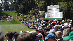 April 6, 2018 - Augusta, GA, USA - Fans fill the gallery around the sixth green during the second round of the Masters Tournament Friday, April 6, 2018, at Augusta National Golf Club on Friday, April 6, 2018, in Augusta, Ga. (Credit Image: © Jason Getz/TNS via ZUMA Wire)