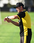 ESAFC Coach Hoani Edwards. ISPS Handa Men's Premiership football match between Eastern Suburbs AFC and Hamilton Wanderers at Madills Farm in Auckland. Sunday 21 February 2021. © Coyright image by Andrew Cornaga / www.photosport.nz