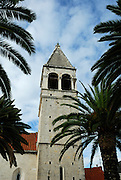 Tower of church of the Sveti Duje (Saint Dominic) Monastery. Trogir, Croatia