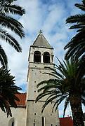 Tower of church of the Sveti Duje (Saint Dominic) Monastery. Trogir, Croatia